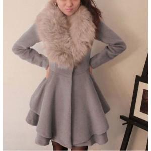 Женские вязаные пальто с мехом самый