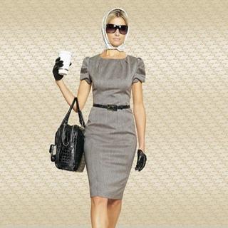 Женские деловые зимние платья