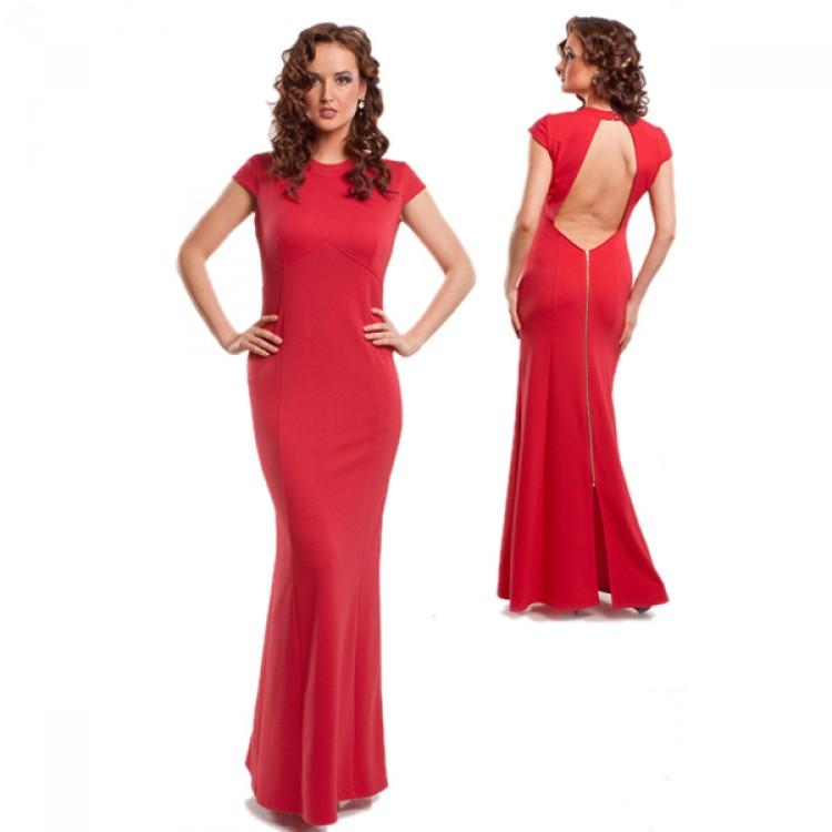 15619 вечерние платья красное 0