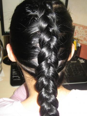 Французская коса набок.