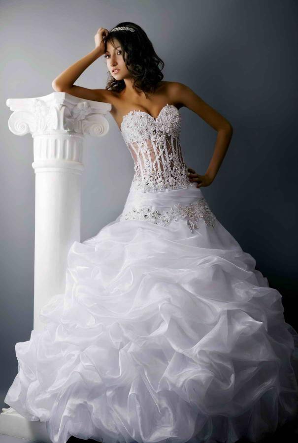 Красивые и пышные свадебные платья