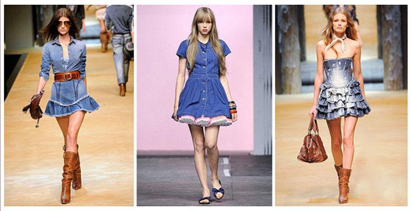 Джинсовые платья и юбки купить