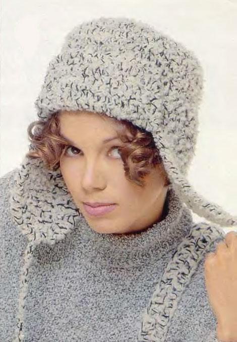 Модная шапка: вязание крючком