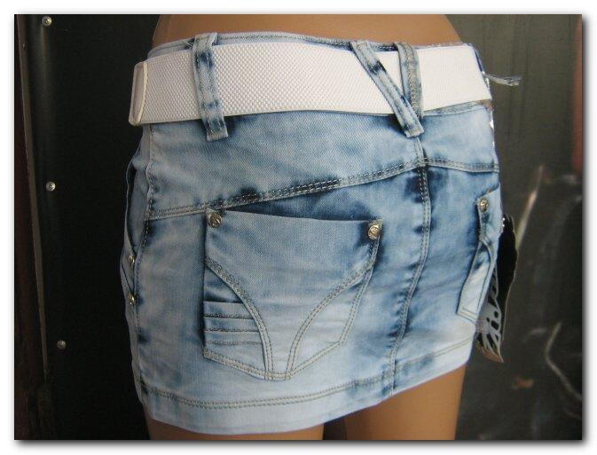 Джинсовые юбки мини фото 614-400