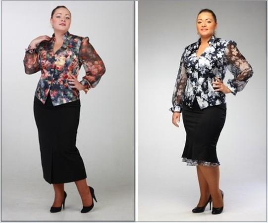 Самые Модные Блузки И Комбинезоны Для Полных 2014