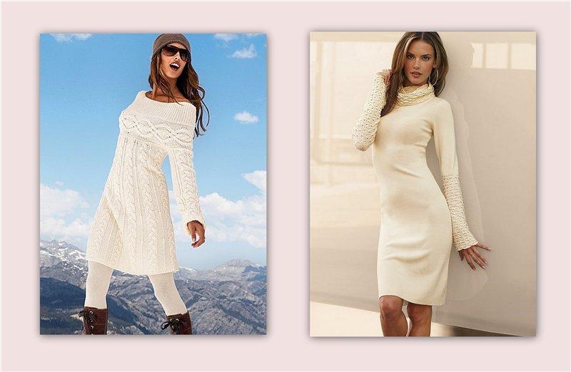 c4473598fbc Модные вязаные платья Виктория Сикрет 2013. Вязанное платье - модно и  тепло. Трикотажные и вязанные платья женская мода
