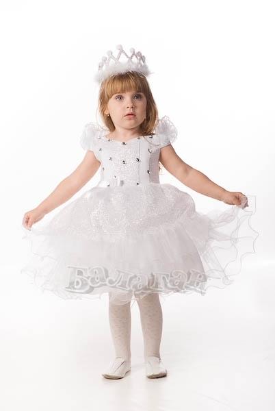 Белое платье снежинка