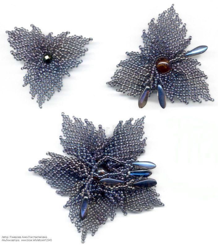 Схема плетения брошки