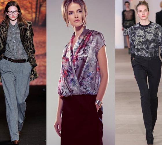 e5015d5d93e С чем сегодня можно носить блузку из шифона  Как подобрать подходящий низ и  аксессуары  офисная мода