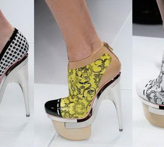 9965cfaae Модные туфли на высоком каблуке и платформе: туфли на высокой ...