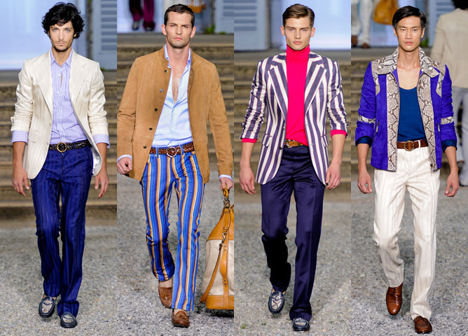Модный цвет мужских сорочек весна 2012: возвращение в 80-