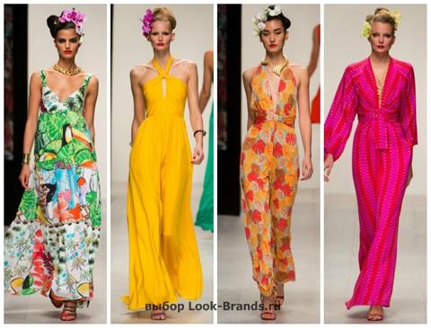 Длинные цветные летние платья