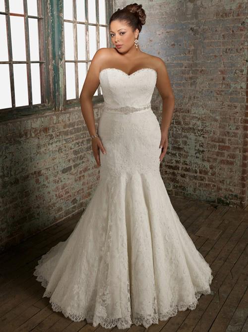 Свадебные платья для полноватых