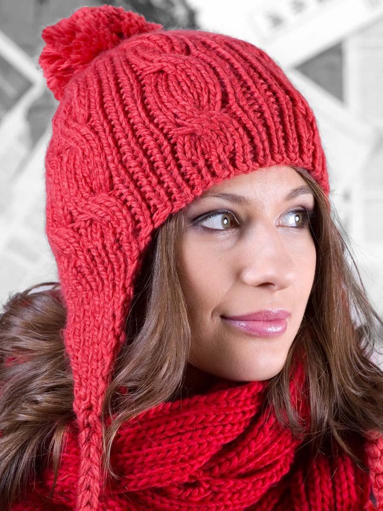 зимние вязаные шапки крючком из разноцветных ниток схемы