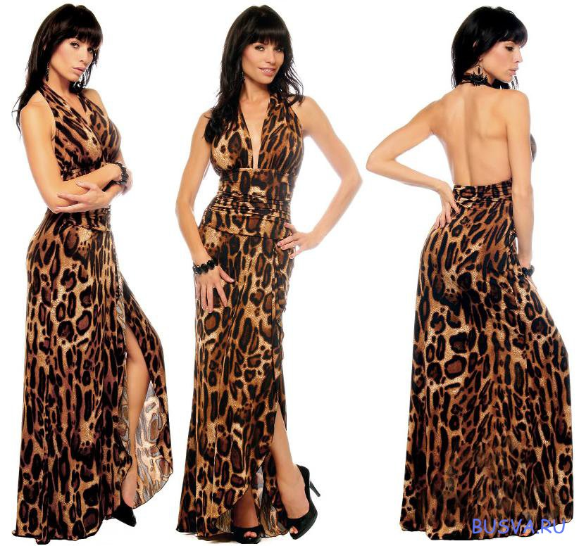 Платье расцветка леопардовая