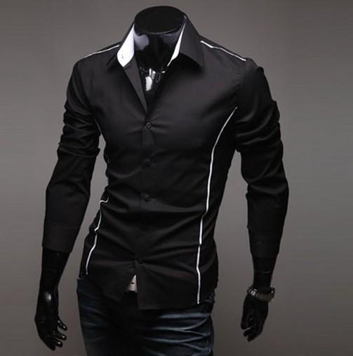 рубашки черные мужские фото