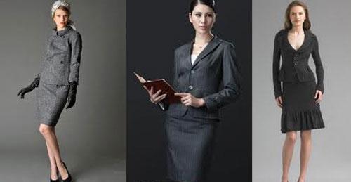 Классический женский костюм с юбкой фото