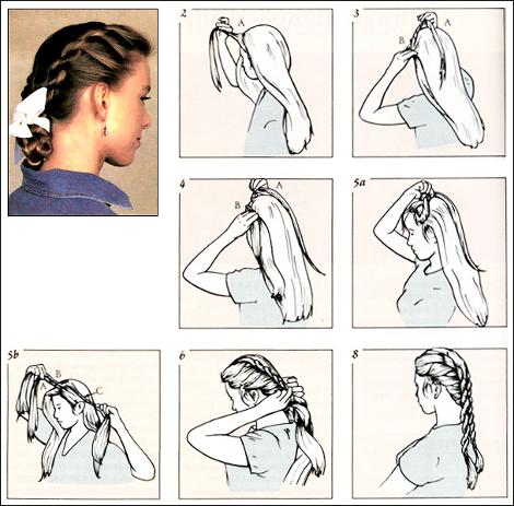 Плетение французской косы на