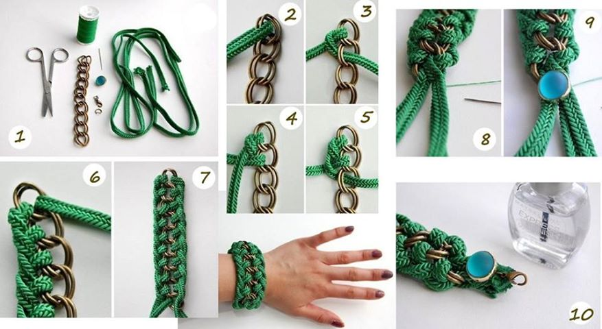 Сделать браслет с цепочкой своими руками