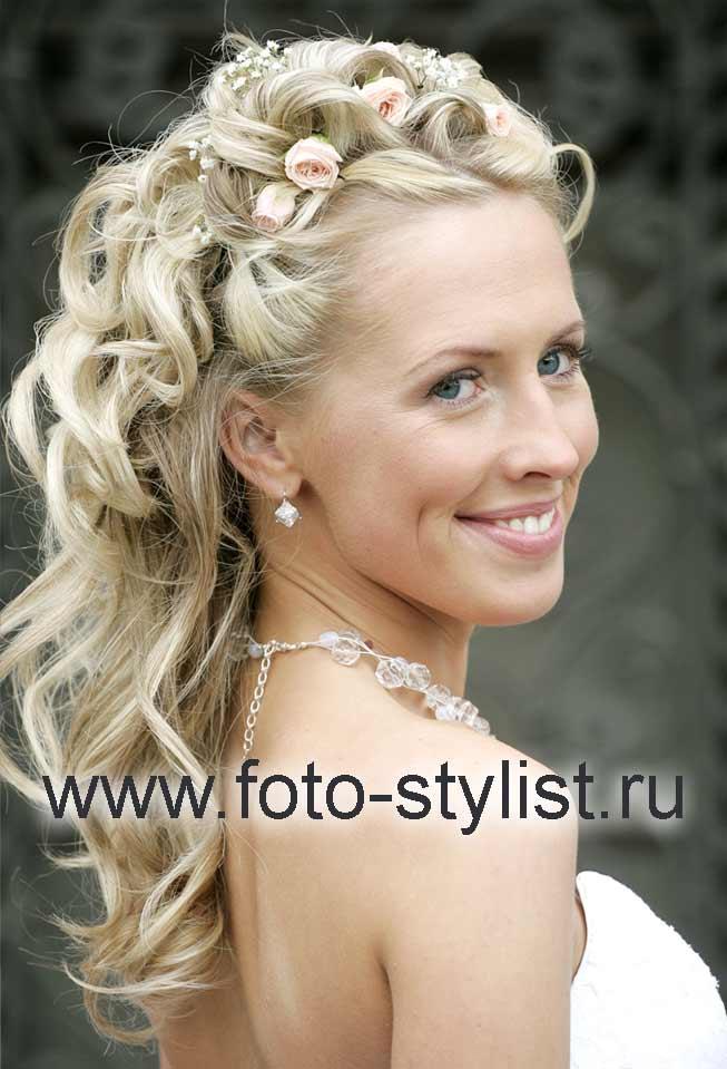 Свадебные прически на среднее волосы