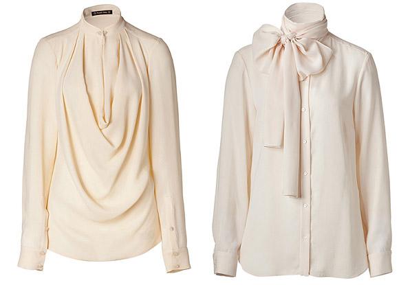 Модные блузки из атласа