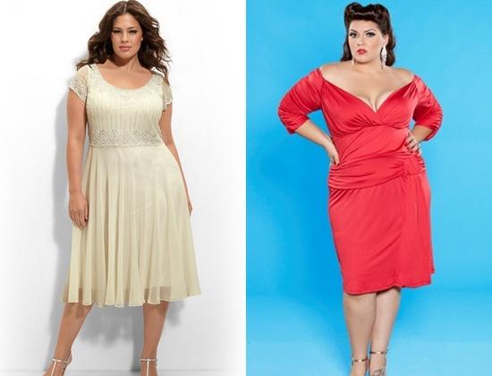 Новогодние платья для больших размеров
