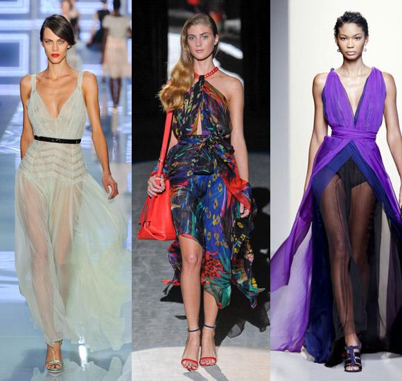 Модные пляжные платья 2012.