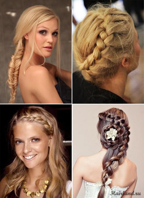 Прически на средние волосы в домашних условиях с косами