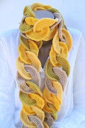 Оригинальные шарфы своими руками вязаные фото 449
