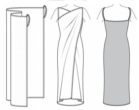 Сшить платье в пол без выкройки быстро