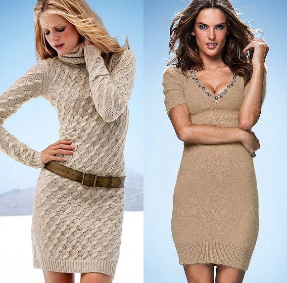 Трикотажное вязаное платье