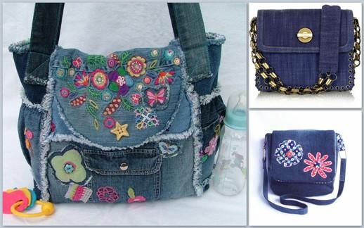 5cf5803d425d Советы Джинсовые сумки. Как носить джинсовую сумку. Джинсовая сумка-цветок